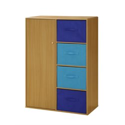 4D Concepts Boy's Storage Armoire in Beige and Blue