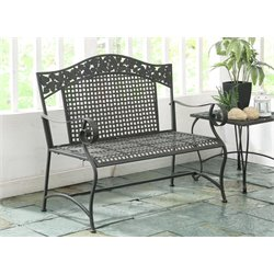 4D Concepts Ivy League Patio Bench in Brown Mesa