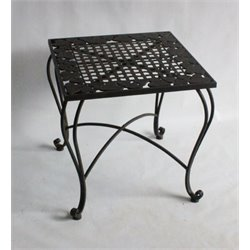 Patio End Table in Gray