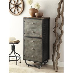 4D Concepts Locker 2 Drawer Accent Chest in Gray