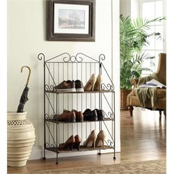 4D Concepts Farmington 3 Tier Metal Baker's Rack in Black