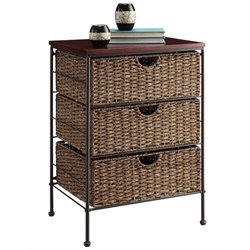 4D Concepts Farmington 3 Drawer Chest in Brown