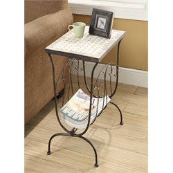 4D Concepts Magazine End Table in Antique Tuscany