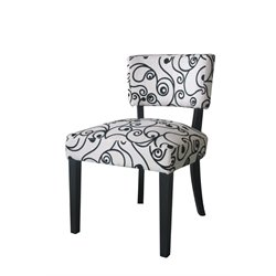 4D Concepts Cosmo Oversized Accent Chair in Black and White