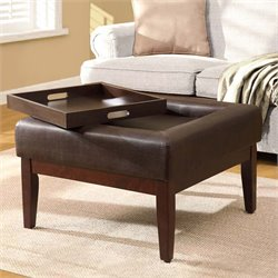 4D Concepts Preston Storage Coffee Table Ottoman in Espresso