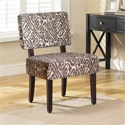 4D Concepts Sabrina Leopard Print Accent Chair