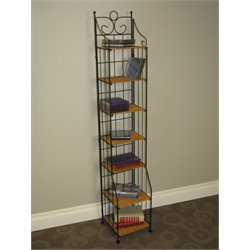 4D Concepts Wicker CD Rack in Caramel