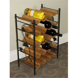 4D Concepts Wicker Wine Rack in Caramel