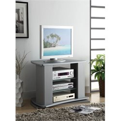 4D Concepts Swivel TV Stand in Silver