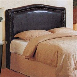 4D Concepts Virginia Queen Upholstered Headboard in Chocolate Brown