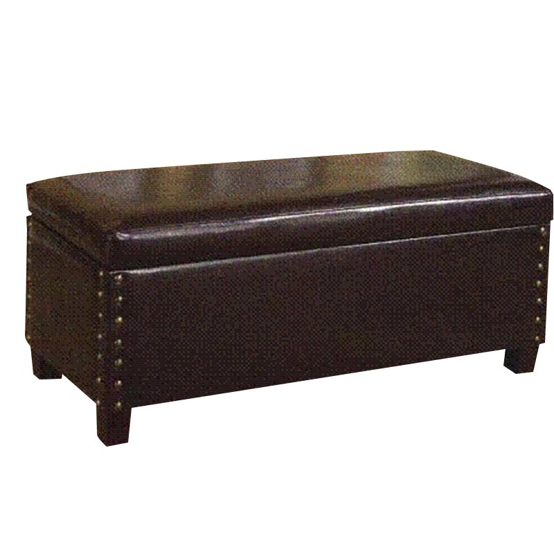 bedroom benches upholstered storage ottoman in chocolate brown