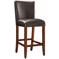 Deluxe Faux Leather Bar Stool in Brown