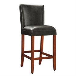 Deluxe Faux Leather Bar Stool in Black