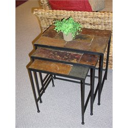 3 Piece Nesting Table Set in Slate