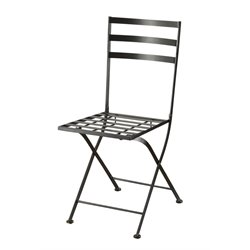 4D Concepts Metal Dining Chair in Black (Set of 2)
