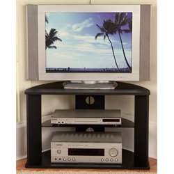 Corner TV Stand in Black