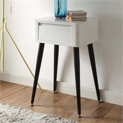 4D Concepts End Table in Black and White