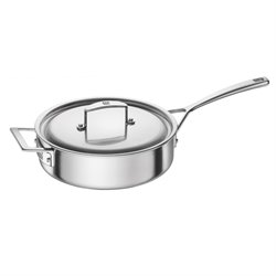 Zwilling J.A. Henckels Aurora 3 qt. Stainless Steel Saute Pan