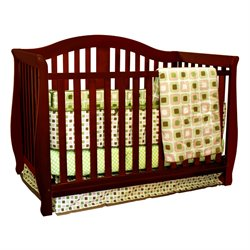 Athena Desiree 4 in 1 Convertible Crib in Cherry