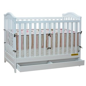 AFG Baby Furniture Athena  Jeanie 3 in 1 Convertible Crib