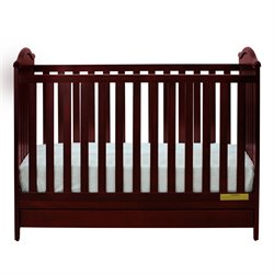 Athena Jeanie 3 in 1 Convertible Crib in Cherry