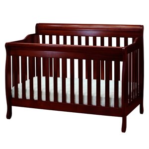AFG Baby Furniture Athena  Alice 4 in 1 Convertible Crib with Guardrail