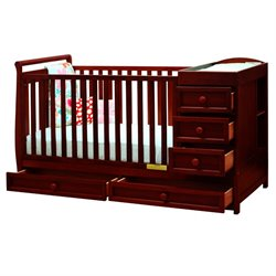 Athena Daphne 2 in 1 Convertible Crib in Cherry