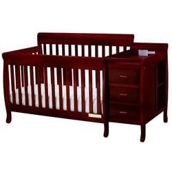 Athena Kimberly 3 in 1 Convertible Crib in Cherry