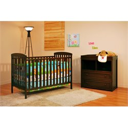 Athena Leila 2 Piece Convertible Crib Set