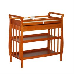 Athena Nadia Changing Table with Drawer in Pecan