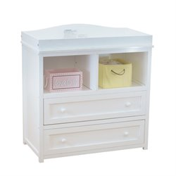 AFG Baby Furniture Athena Leila 2 Drawer Changer with Galley Rail