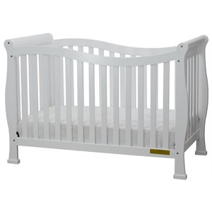 AFG Nadia 4-in-1 Convertible Crib with Mattress Set