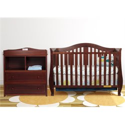 AFG Desiree 4-in-1 Convertible Crib with Dresser Changing Table