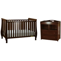 AFG Naomi 4-in-1 Convertible Crib with Dresser Changing Table