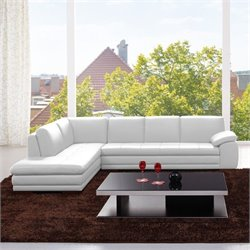 Sectional Leather White