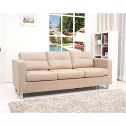 Brika Home Fabric Sofa in Camel