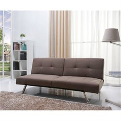 Brika Home Fabric Convertible Sofa in Mocha