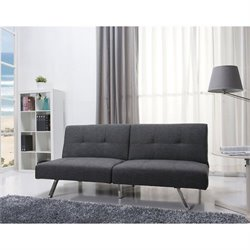 Brika Home Fabric Convertible Sofa in Gray