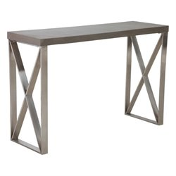 Brika Home Console Table in Cement