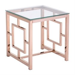 Brika Home Glass End Table 1