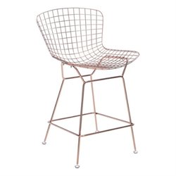 Brika Home Bar Stool in Rose Gold
