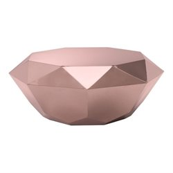 Brika Home Coffee Table in Rose Gold