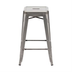 Brika Home Modern Gunmetal Counter Chair in Gunmetal