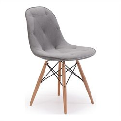 Brika Home Dining Chair in Gray Velour