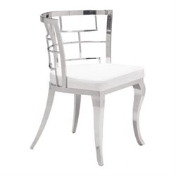 Brika Home Faux Leather Dining Chair in White