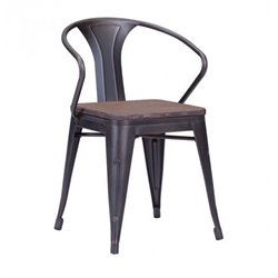 Brika Home Dining Chair in Rustic Brown