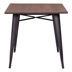 Brika Home Dining Table in Rustic Brown