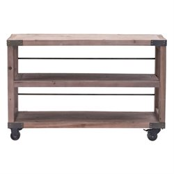 Brika Home Fort Mason Shelf Distressed Natural