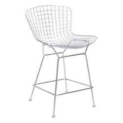 Brika Home Bar Stool in Chrome