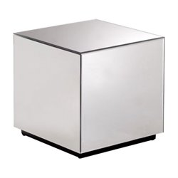 Brika Home Cubo Mirror End Table